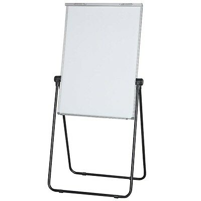 700X1000Mm Double Side Magnetic Whiteboard Flip Chart W/stand 1Xpen Eraser E0