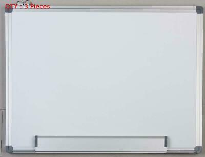 3 X New 900X1200Mm Single Side Aluminum Frame Magnetic Drywipe Whiteboard E0