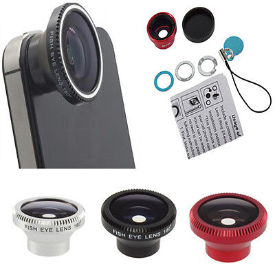 Magnetic Wide 180°Detachable Fish Eye Lens for CellPhone iPhone 4 4G 4S 3 Color
