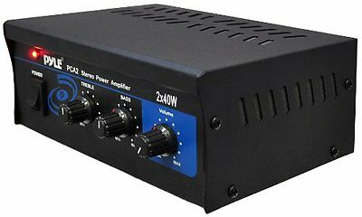 Pyle Home PCA2 2X40-Watt Stereo Mini Power Amplifier New