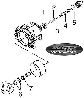 Kit roulement de turbine Jetski Polaris Jet Pump Repair Kit - WSM