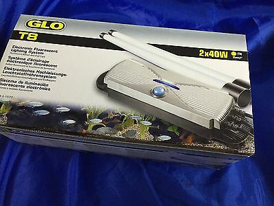 Hagen Glo T8 Aquarium Lighting Starter Unit Ballast Twin 40W