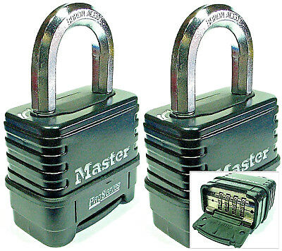 Combination Lock Set by Master 1178D (Lot 2) Resettable Weather Sealed Carbide