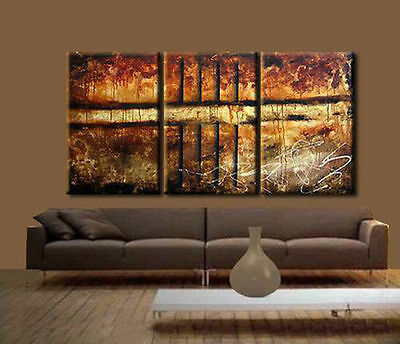 MODERN ABSTRACT HUGE WALL ART OIL PAINTING ON CANVAS(No frame )