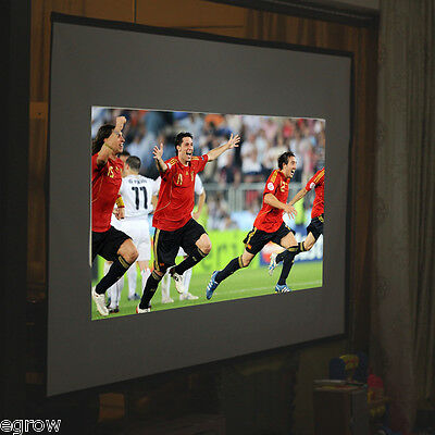 "New Portable 84"" Projector 16:9 Projection Screen 67''x 50'' Pull-up Matte US"