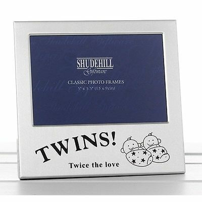 "5"" x 3"" Twins! Photo Frame Twice the love Gift Occasion Present Celebration"