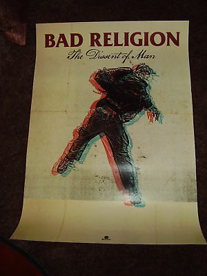 BAD RELIGION New 2010 PROMO POSTER for Dissent CD MINT NEVER DISPLAYED