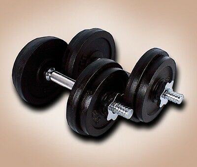 New One 40 Lbs Adjustable Weight Dumbbells Set Kit 20Lbs X 2PCS Dumbbell Plate