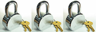 Lock Set by Master 6230KA (Lot of 3) KEYED ALIKE Solid Steel Extreme Security