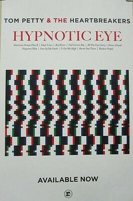 """TOM PETTY 2014 Hypnotic Eye """"NOW"""" promotional poster Flawless New Old Stock"""