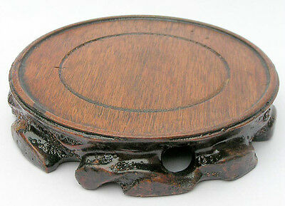 Beautiful Wood Products stand base for vase or other statue carving very rare