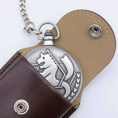 #500 Official Fullmetal Alchemist Ed Pocket Watch With  Citizen Mov't