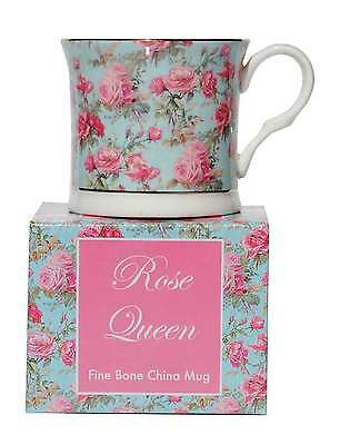 Rose Queen Flower Floral Fine Bone China Palace Tea Coffee Mug Cup New