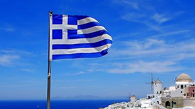 GREECE GREEK NATIONAL FLAG FOOTBALL OLYMPIC GAMES FANS SUPPORTERS LARGE 5 x 3FT