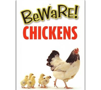 Beware Chickens Sign Farmers Attention Safety Sign Borad