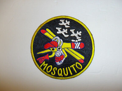 b4166 Korea US Air Force 6147th Tactical Control Group Patch Mosquito yellow R8D