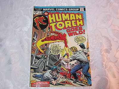 The Human Torch Goes Wild No.2  Nov Marvel 1970's Comic   T*