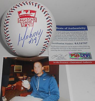 Jose Abreu White Sox PSA DNA IN PERSON COA Signed 2014 All Star Baseball A