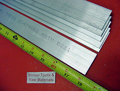 "7 Pieces 1/8"" X 1-1/2"" ALUMINUM 6061 FLAT BAR 18"" long .125"" Plate Mill Stock"