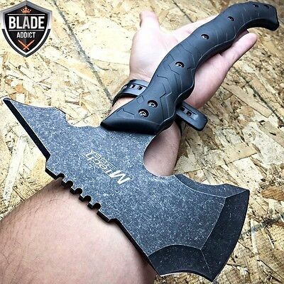 "15"" STONEWASH COMBAT TOMAHAWK THROWING AXE BATTLE Hatchet Hunting Knife Tactical"