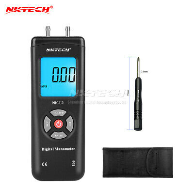 NKTECH NK-L2 Digital Manometer Differential Air Pressure Meter Gauge kPa ±2Psi B