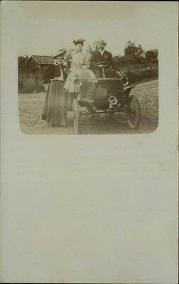 Early French Car Old Auto Real Photo c1910 Postcard
