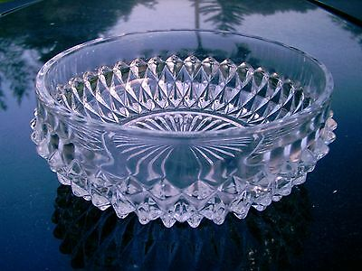 VINTAGE  GLASS FIVE  INCH BOWL  OR  CANDY DISH DECORATIVE POINTS AROUND BOWL