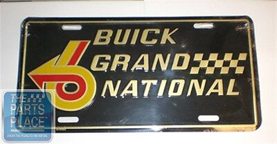 1964-87 Buick Grand National Accessory License Plate Gold