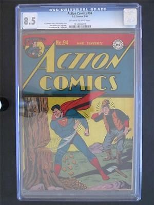 Action Comics #94 DC 1946 -HIGH GRADE- CGC 8.5 VF+ Superman - Golden Age Comic!