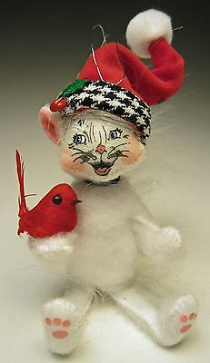 Annalee Christmas 2014 Mobility 4 inch Classy Kitty 750214 With Laughing Face