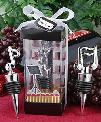 1 x Musical Note Wine Bottle Stopper - NEW - Wedding Favours and Gifts