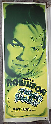 TIGER SHARK original rolled 14x36 movie poster EDWARD G. ROBINSON/HOWARD HAWKS