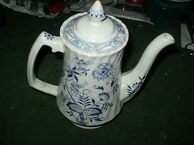 WOOD AND SONS BLUE FJORD COFFEE POT ENGLAND