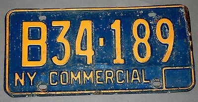 Vintage Commercial License Plate-New York—B34-189