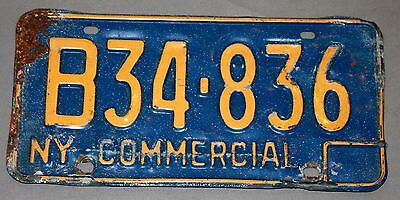 Vintage Commercial License Plate-New York—B34-836