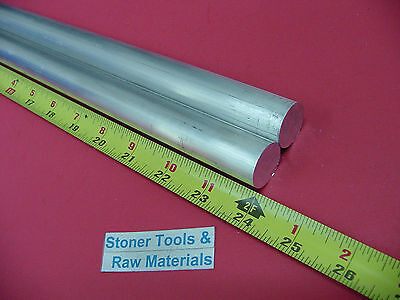 "2 Pieces 3/4"" ALUMINUM 6061 ROUND ROD 24"" long T6511 Solid New Lathe Bar Stock"