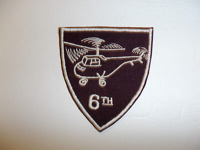 b4187 US Army 1950's 6th Helicopter Squadron R8D