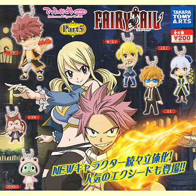 Takara Fairy Tail Part 5 Key chain Keychain mini Deformed Figure Set of 6