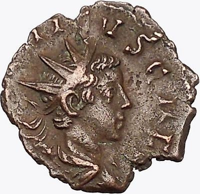TETRICUS II 273AD  Ancient  Roman Coin RARE Sacrificial implements  i42986