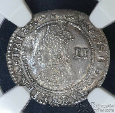 Great Britain 2 Pence (1660-1662) AU58 NGC silver Charles II Maundy Twopence.