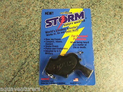 Storm Safety Whistle World Loudest Whistle Works In On & Under Water Scuba Etc