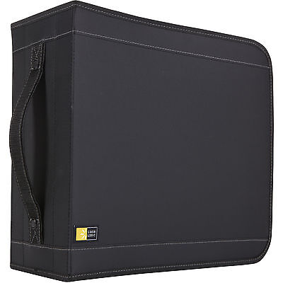 Case Logic CDW-320 336 Capacity CD Wallet -Book Fold -Nylon - 336 CD/DVD - Black