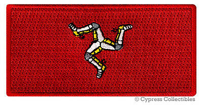 ISLE OF MAN FLAG embroidered iron-on PATCH SOUVENIR EMBLEM COUNTRY BANNER MANN