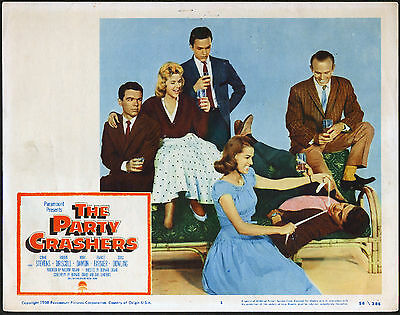 THE PARTY CRASHERS 1958 lobby card BOBBY DRISCOLL/CONNIE STEVENS 11x14 poster
