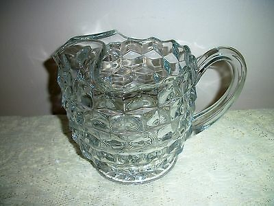 American Fostoria 1.5 Quart Squaty Ice Lip Pitcher