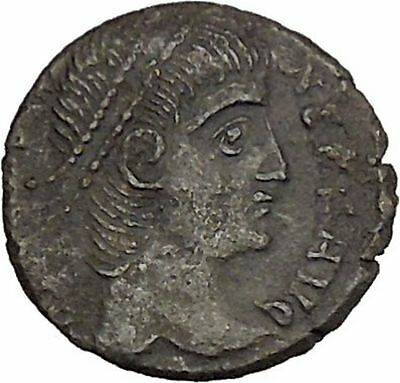 CONSTANS Constantine the Great son Ancient Roman Coin Wreath of success i42536