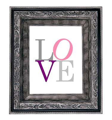 LOVE Art Print Shower Gift New Baby Nursery Bridal Wedding Picture