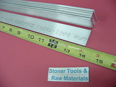 "6 Pieces 1/8"" X 1"" ALUMINUM FLAT BAR 14"" long 6061 T6511 .125""x 1 New Mill Stock"