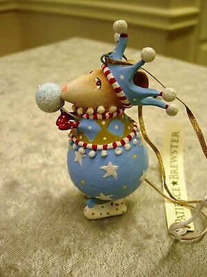 Patience Brewster Krinkles Snowball Mouse Boy Christmas Ornament