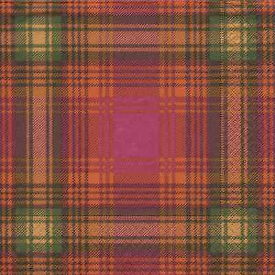 Spice Highland Tartan Plaid dinner traditional paper table napkins 20 in pack